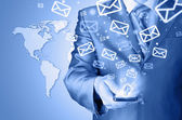 Wysyłanie e-maili — Zdjęcie stockowe