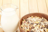 Cereal with milk — Stock Photo