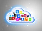 Cloud computing concept voor zakelijke presentaties — Stockfoto