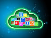 Cloud computing concept for business presentations — 图库照片