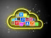 Cloud computing concept for business presentations — Stock Photo