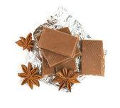 čokoláda a koření — Stock fotografie