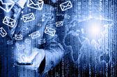 Versenden von e-Mails — Stockfoto