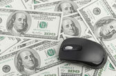 Dollars and Mouse — Stockfoto