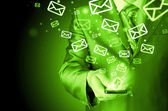 Sending emails — Stock Photo