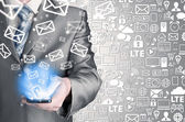 Sending emails — Stok fotoğraf