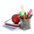 Pencil box with school equipment — Stock Photo #47719041