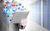 Business man use tablet  in office — ストック写真