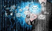 Businessman email concept — ストック写真