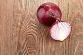 Frischen roten zwiebeln — Stockfoto