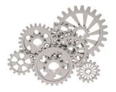 Illustration of gears — Stock Photo