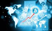 Scegliendo bitcoin — Foto Stock