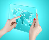 World map and connection — Stock Photo