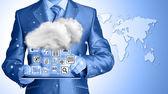 Computación en la nube — Foto de Stock