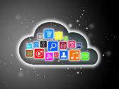 Cloud computing concept design — Stock Photo