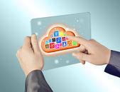 облачные вычисления — Стоковое фото