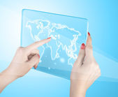 World map and connection — Stockfoto