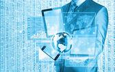 Technologies in hands — Stockfoto
