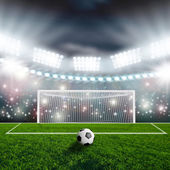 Balón de fútbol — Foto de Stock