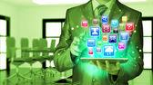 Gebruiken, tablet pc — Stockfoto