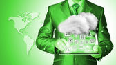 Cloud computing concept — Stock Photo