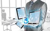Technologies dans les mains — Photo