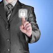 Virtual security button — Stock Photo