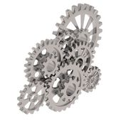 Grey gears — Stock Photo
