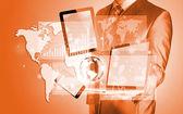 Technologies in hands — Stock Photo