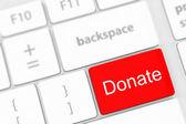 Donate key word — Stock Photo