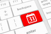Calendar Icon on Computer Keyboard — Stock Photo