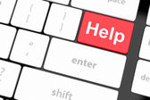 Keyboard message with online supports or help concepts — Stock Photo