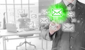 Businessman email concept — Stock Photo