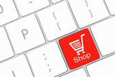 Winkelen knop sleutel invoeren — Stockfoto