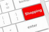 Shopping enter button key — Stock Photo