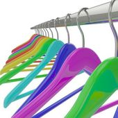 Perchas de color — Foto de Stock