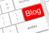 Blog bloggar or inernet blogging concept with key — Stock Photo