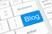 Blog bloggar or inernet blogging concept with key — Stock Photo
