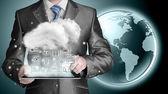 Bulut bilgi teknolojisi bağlantı kavramı — Stok fotoğraf
