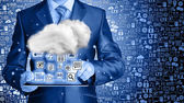 Cloud computing, technology connectivity concept — Stock Photo