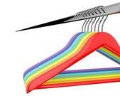 Color  hangers — Stock Photo