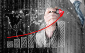 Growing graph — Stock Photo