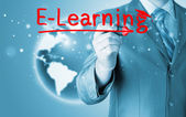 E-learning concept — Foto Stock