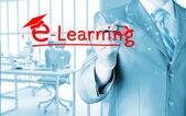 Koncepcja e learningu — Zdjęcie stockowe