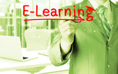 E-learning concept — 图库照片