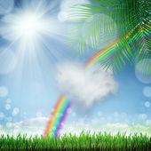 Naturalne tło zielony z selektywne focus — Zdjęcie stockowe