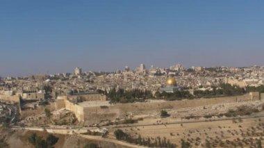 Panorama the old city Jerusalem — Stock Video