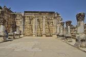 Capernaum white synagogue — Stock Photo