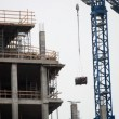 Crane and a building construction — Stock Video