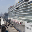Stock Photo: Cruise ships anchored in port